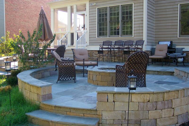 Circular Patio Fire Pit Houses Plans Designs