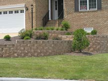 the parke - residential retaining wall - goochland, virginia