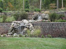spring creek residential retaining wall in virginia